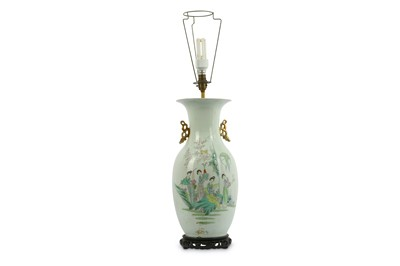 Lot 95-A Chinese Famille Rose vase, 20th Century, the...