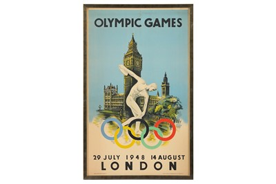 Lot 40-1948 OLYMPIC GAMES: An official poster for the...