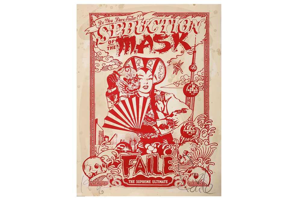 Lot 15-Faile (American, b.1999), 'Seduction of the Mask (Shanghai Mao)'