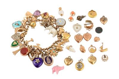 Lot 35-A charm bracelet