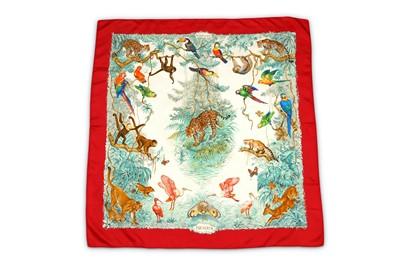 Lot 39-Hermes 'Equateur' Silk Scarf