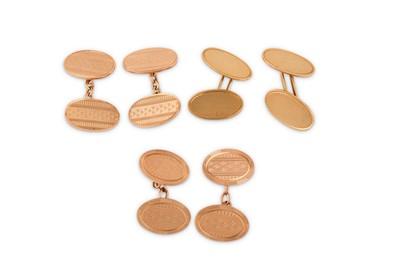 Lot 40-Three pairs of cufflinks