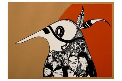 Lot 73-Lucy McLauchlan (British, b.1977), 'Warrior Bird (Orange)'
