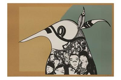 Lot 74-Lucy McLauchlan (British, b.1977), 'Warrior Bird (Green)'