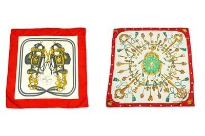 Lot 40-Two Hermes Silk Scarves