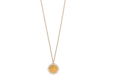 Lot 28-A sovereign pendant necklace