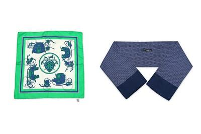 Lot 7-Hermes Silk Pocket Square and Cravat