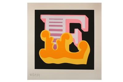 Lot 17-Ben Eine (British, b.1970), 'E (Triptych)'