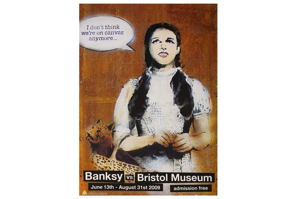 Lot 37-Banksy (British, b.1974), 'Dorothy (Banksy vs Bristol Museum Poster)'