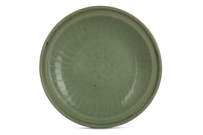 Lot 43-A CHINESE LONGQUAN CELADON CHARGER. Ming...