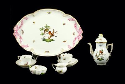 Lot 50-A 20th Century Herend porcelain cabaret set in...