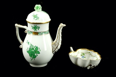 Lot 54-A Herend porcelain miniature coffee pot in the...