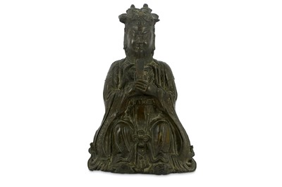 Lot 89-A Chinese bronze figure of a Jade Emperor,...