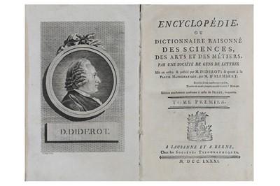 Lot 14-Diderot (Denis) & D'Alembert (Jean le Rond)...