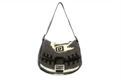 Lot 374 - Fendi Grey Wool Mamma Baguette