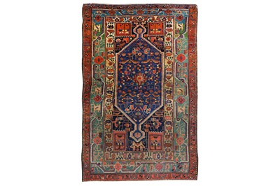 Lot 3-AN ANTIQUE HAMADAN RUG, WEST PERSIA approx:...