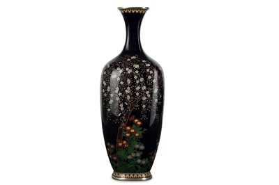 Lot 24-A CLOISONNÉ VASE. Meiji period. Worked in...