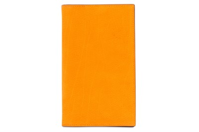 Lot 83a-Hermes Orange Suede Agenda Cover Vision II