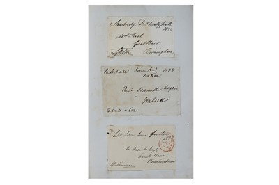 Lot 325-Album of Autographs.- 19th Century Collection of...