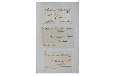 Lot 325-Album of Autographs.- 19th Century Collection...