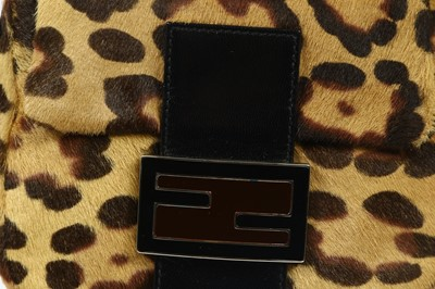 Lot 263 - Fendi Leopard Print Mini Baguette