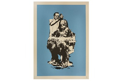 Lot 448-Eelus (British, b.1979) 'Chewbarber' Blue Edition ...