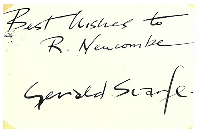 Lot 316-Scarfe (Gerald) Black ink signature and...