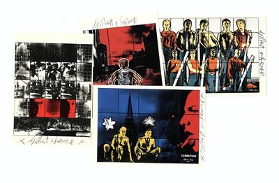 Lot 308-Gilbert & George Ten souvenir postcards...