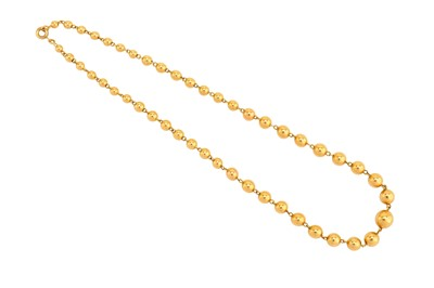 Lot 15-A fancy-link necklace Composed of a graduated...