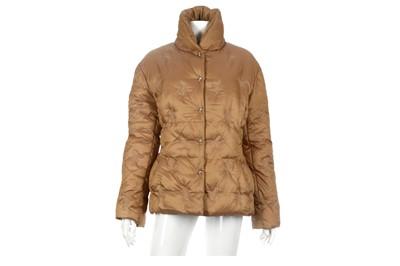 Lot 25-Thierry Mugler Bronze Puffer Jacket