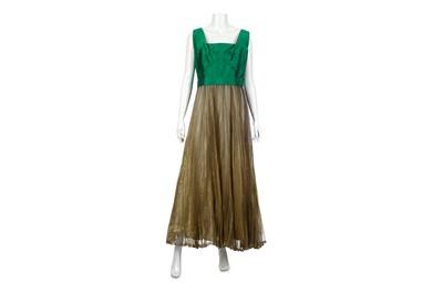 Lot 4-Lanvin Vintage Haute Couture Pleated Evening Dress