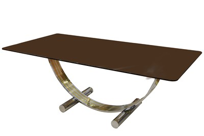 Lot 10-Renato Zevi: A glass Dining Table, Italy, 1970s