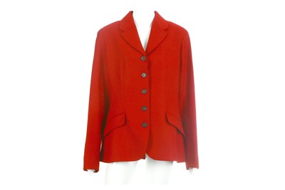 Lot 37-Hermes Red Wool Jacket - size 42