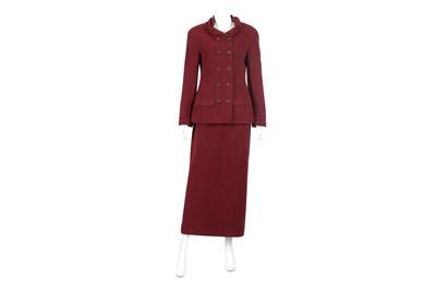 Lot 44-Chanel Plum Skirt Suit - size 40