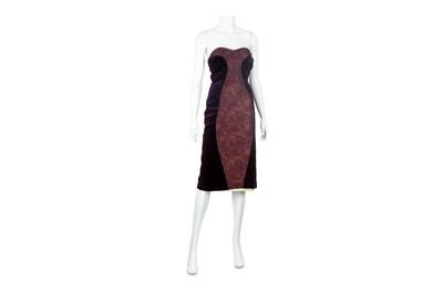 Lot 46-Paco Rabanne Purple Strapless Dress