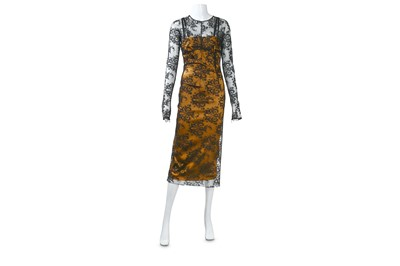 Lot 17-Dolce and Gabbana Cordonetto Lace Dress - size 40