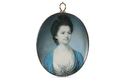 Lot 25 - RICHARD CROSSE (BRITISH 1742-1810) Portrait...