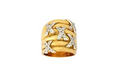 Lot 10-A diamond-set dress ring The multi-band dress...