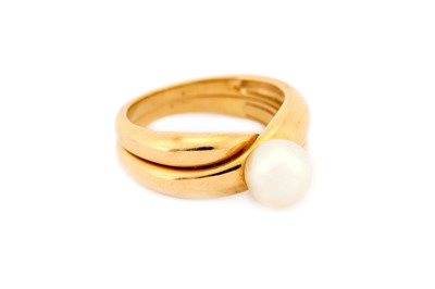 Lot 31-A cultured pearl ring, by Christian Bernard, the...