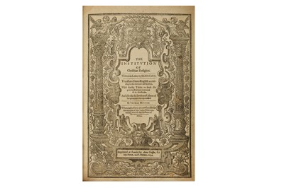 Lot 9-Calvin (John) The Institution of Christian...