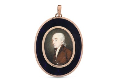 Lot 42-ATTRIBUTED TO HENRY EDRIDGE Portrait miniature of ...