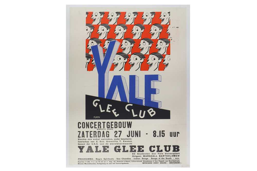 Lot 48-Yale Glee Club, lithographic poster