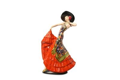 Lot 46-KATHLEEN PARSONS for CROWN DEVON: Flamenco...