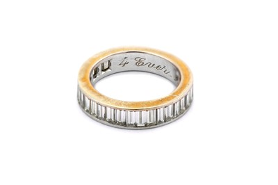 Lot 2-A diamond half-eternity ring, composed of a row...