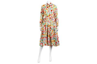 Lot 35-Kenzo Vintage Floral Cotton Midi Dress - size 36