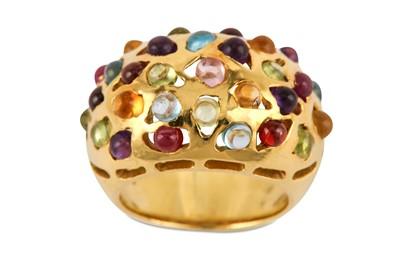 Lot 12-A gem-set dress ring