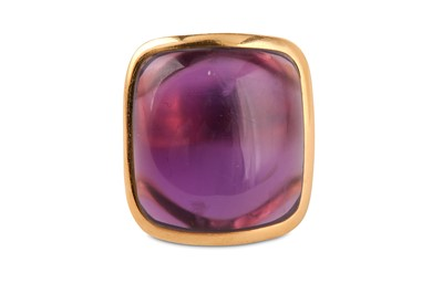 Lot 2-An amethyst dress ring