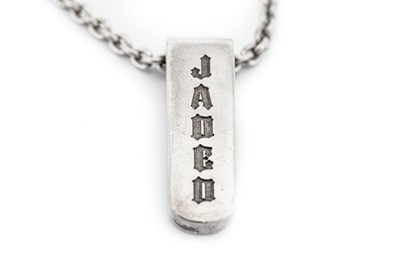 "Lot 33-A ""JADED"" silver pendant necklace, by Jade..."