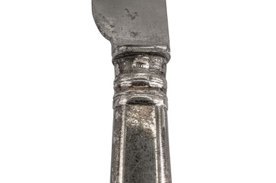 Lot 44-A set of six Alexander III Russian 84 Zolotnik (875 standard) silver handled table knives, Moscow circa 1890 by HП for Nikolai Pavlovich Pavlov