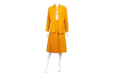 Lot 14-Christian Dior Orange Crepe Skirt Suit - size 40